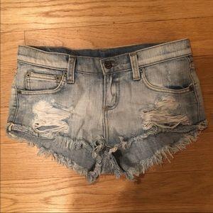 LF Distressed denim short shorts